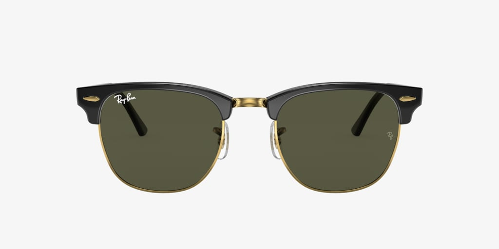 Ray-Ban RB3016 49 CLUBMASTER Black on Gold Sunglasses