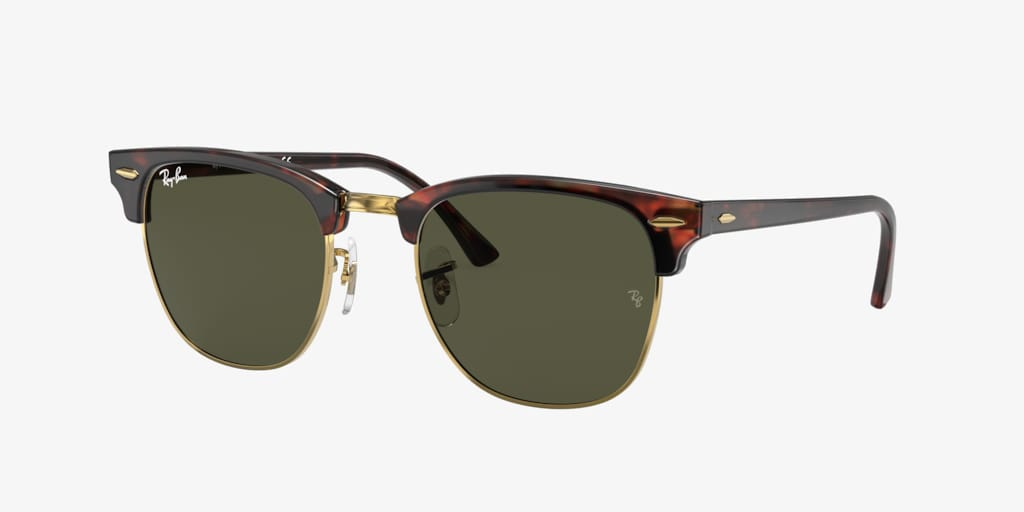 Ray-Ban RB3016 49 CLUBMASTER Tortoise Sunglasses