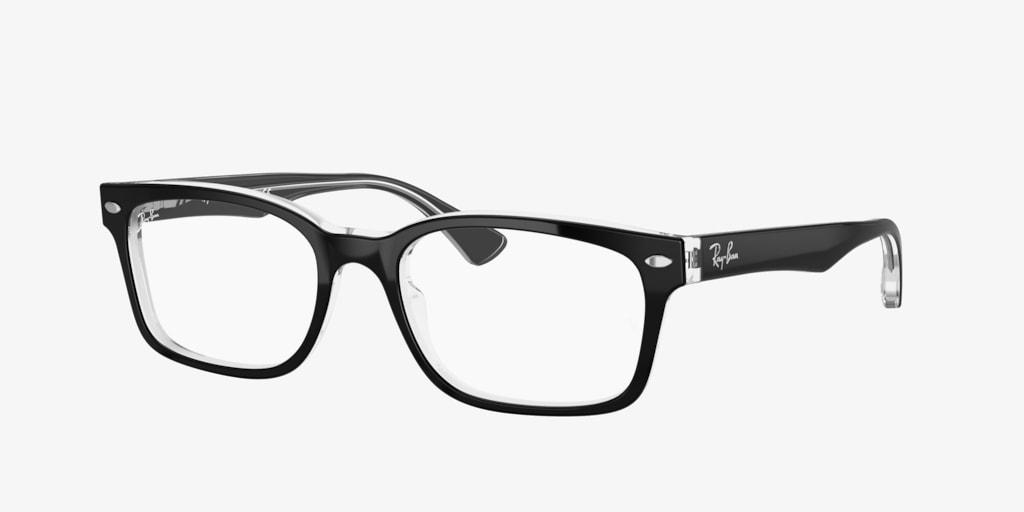 Ray-Ban RX5286 Black on Transparent Eyeglasses