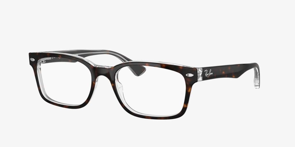Ray-Ban RX5286 Havana On Transparent Eyeglasses