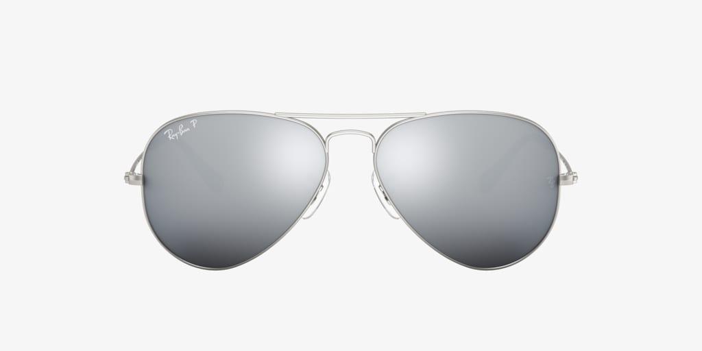 Ray-Ban RB3025 58 ORIGINAL AVIATOR Matte Silver Sunglasses