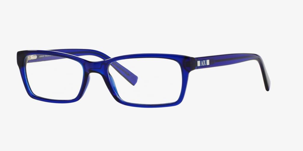 Armani Exchange AX3007 Shiny Transparent Blue Eyeglasses
