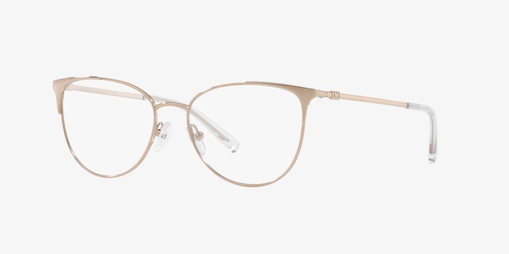 Armani Exchange AX1034 Shiny Rose Gold Eyeglasses