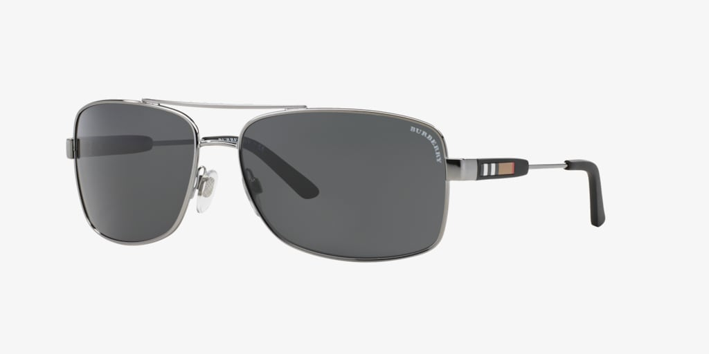 Burberry BE3074 63 Gunmetal Sunglasses