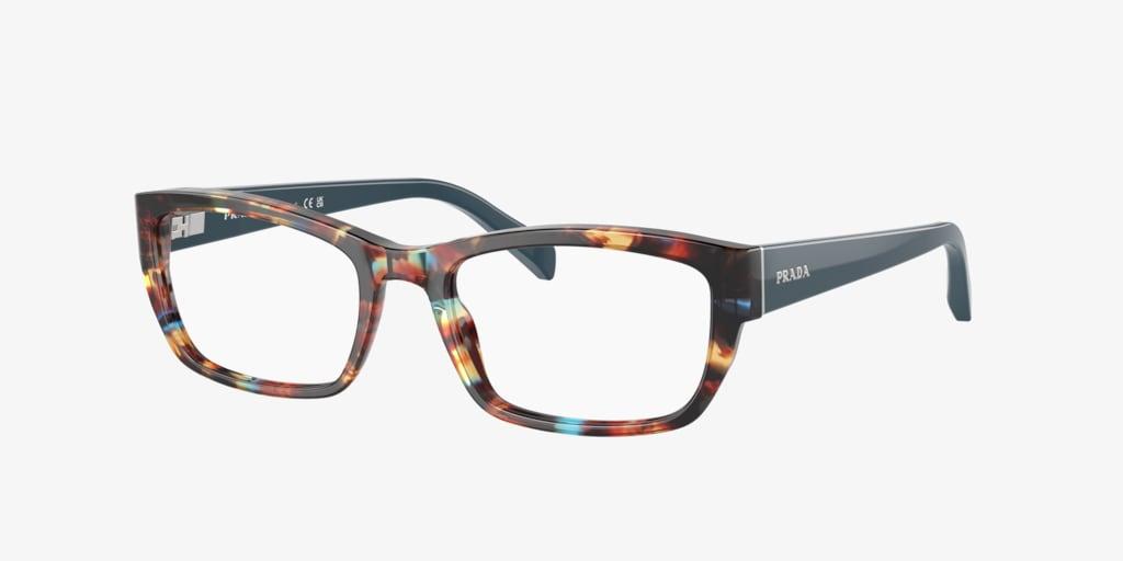 Prada PR 18OV Havana Spotted Blue Eyeglasses