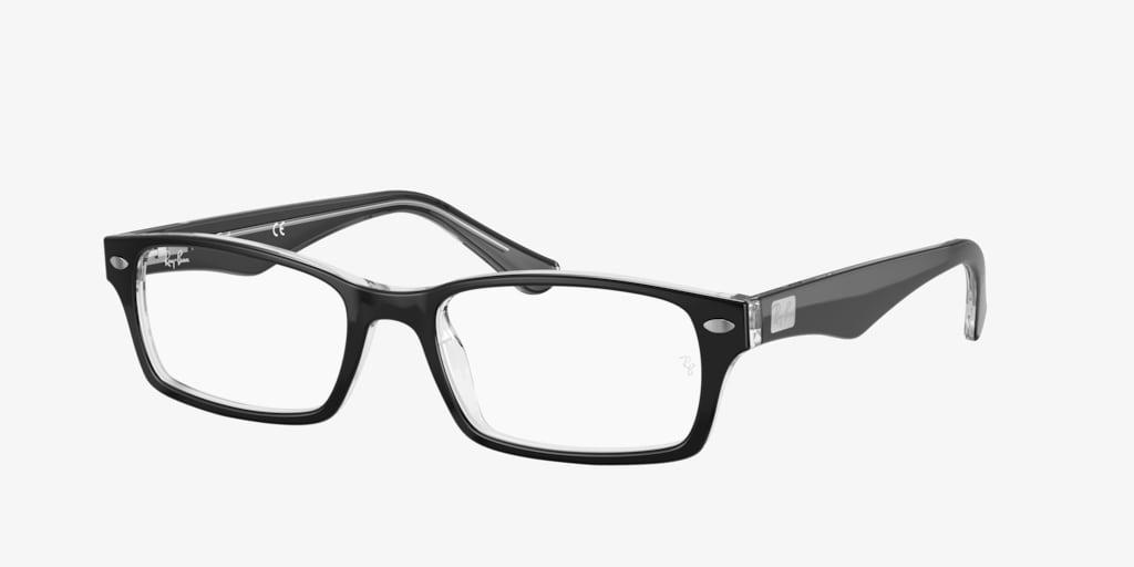 Ray-Ban RX5206 Black on Transparent Eyeglasses