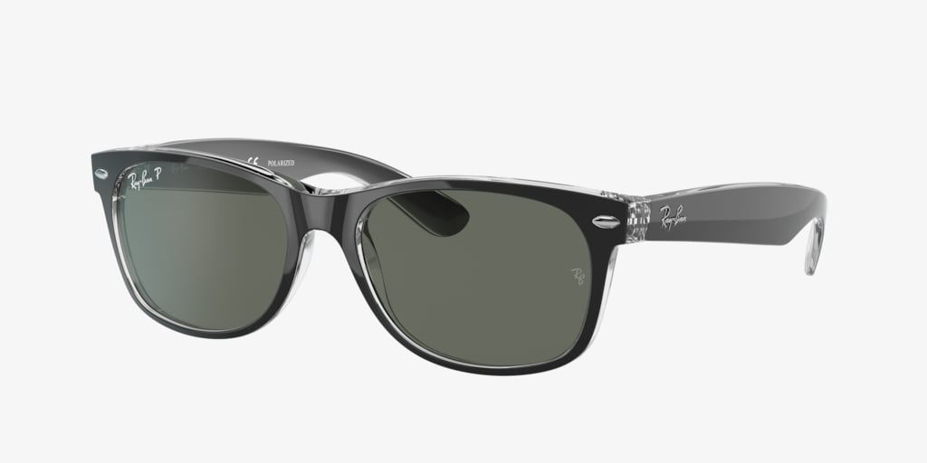 Ray-Ban RB2132 52 NEW WAYFARER Black on Transparent Sunglasses