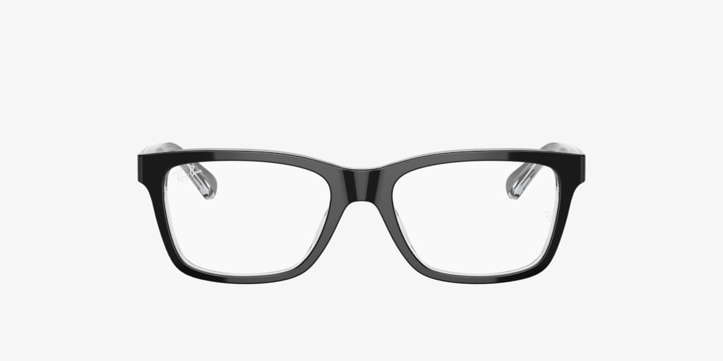 Ray-Ban Jr RY1536 Black on Transparent Eyeglasses