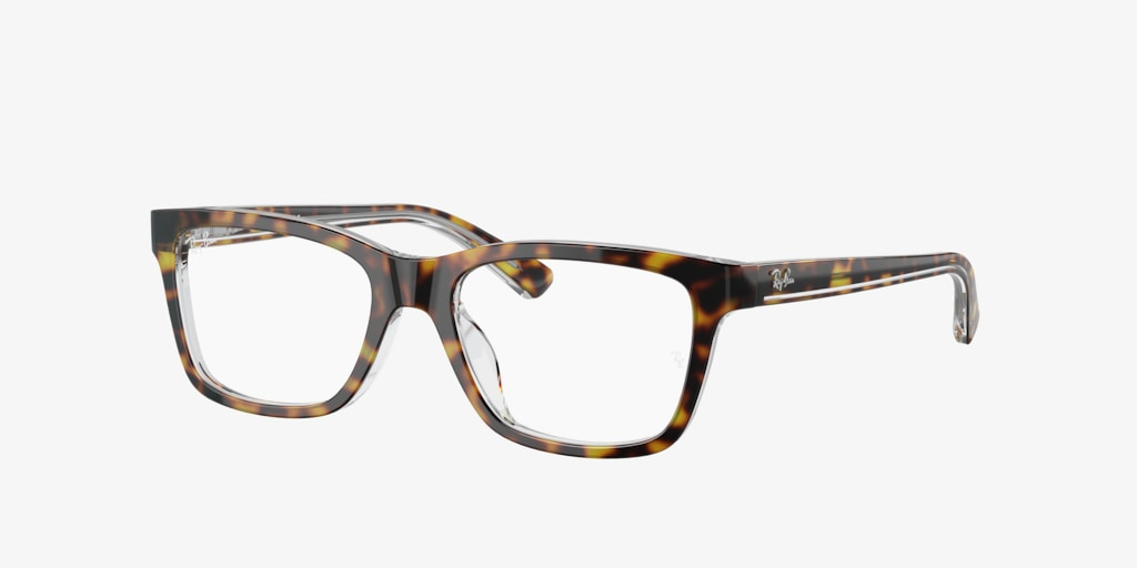 Ray-Ban Jr RY1536 Dark Havana On Transparent Eyeglasses