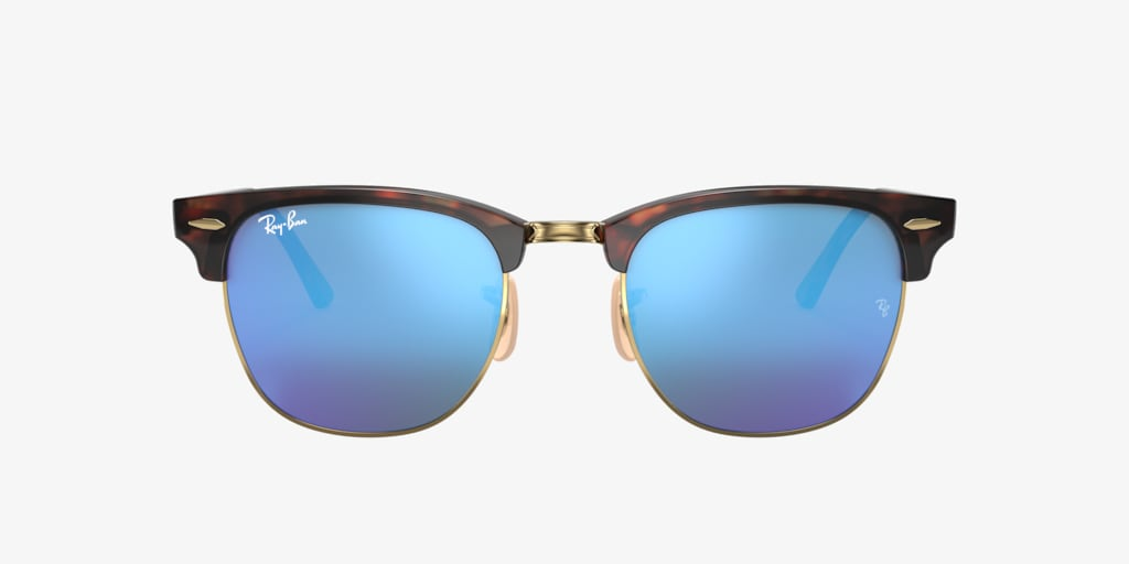 Ray-Ban RB3016 49 CLUBMASTER Sand Havana On Gold Sunglasses