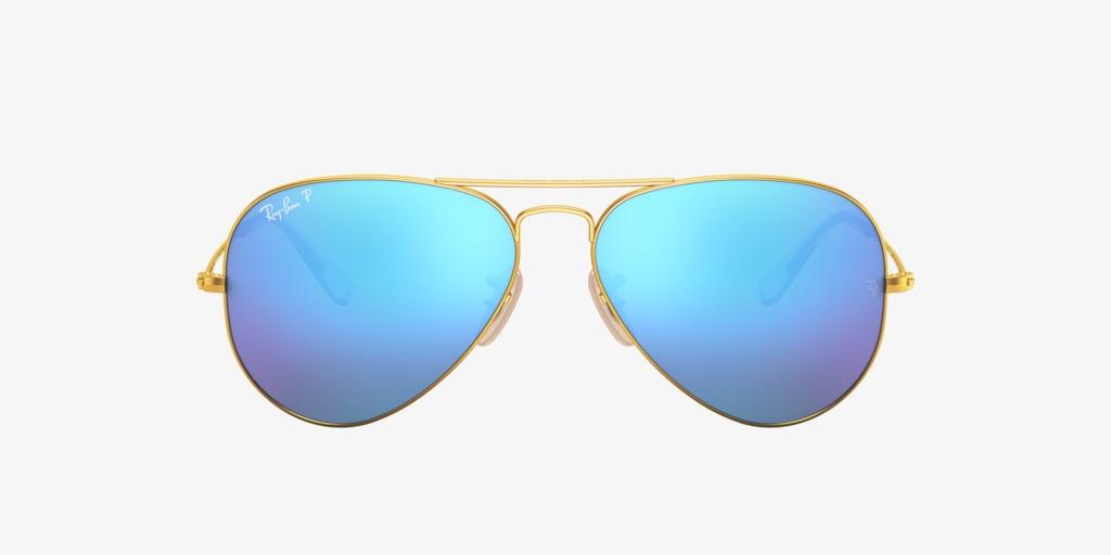 Ray-Ban RB3025 58 ORIGINAL AVIATOR Matte Gold Sunglasses