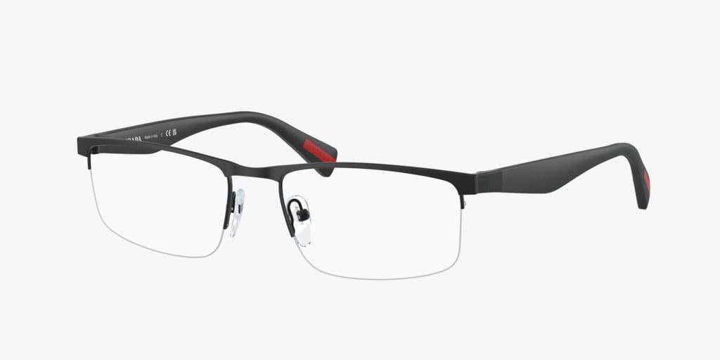 Prada Linea Rossa PS 52FV ACTIVE Black Rubber Eyeglasses