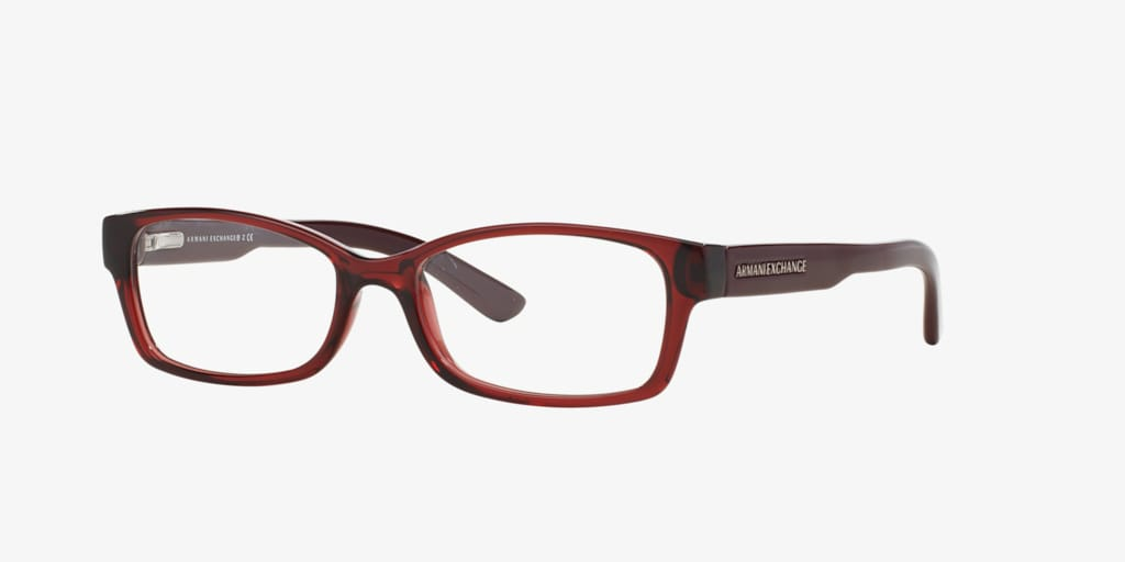 Armani Exchange AX3017 Shiny Transparent Burgundy Eyeglasses