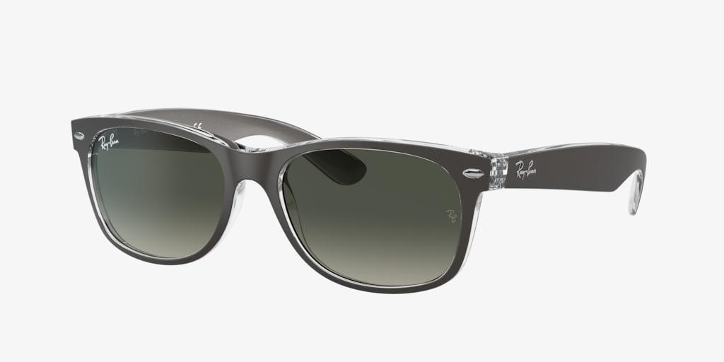Ray-Ban RB2132 52 NEW WAYFARER Gunmetal On Transparent Sunglasses