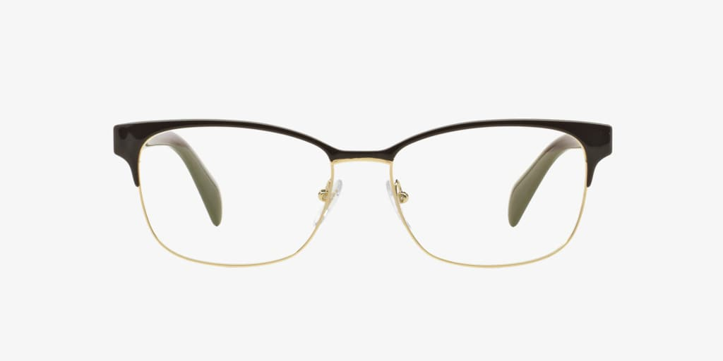 Prada PR 65RV Brown On Pale Gold Eyeglasses