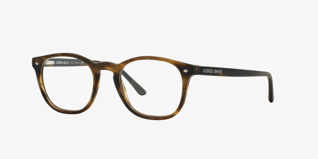 Giorgio Armani AR7074 Striped Matte Dark Brown Eyeglasses