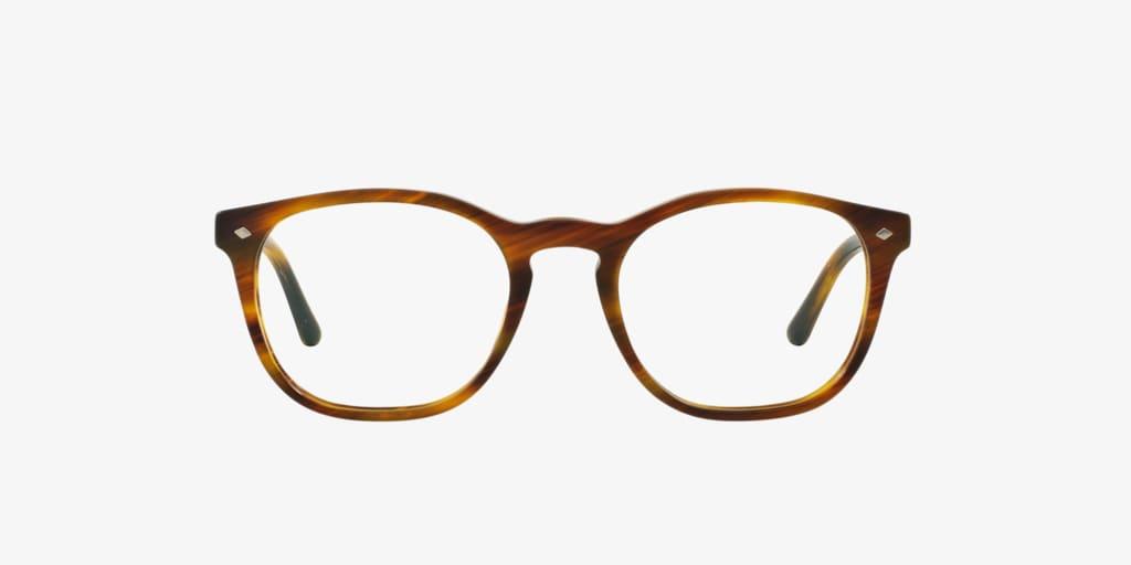 Giorgio Armani AR7074 Striped Matte Light Brown Eyeglasses