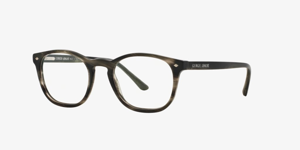 Giorgio Armani AR7074 Striped Matte Grey Eyeglasses