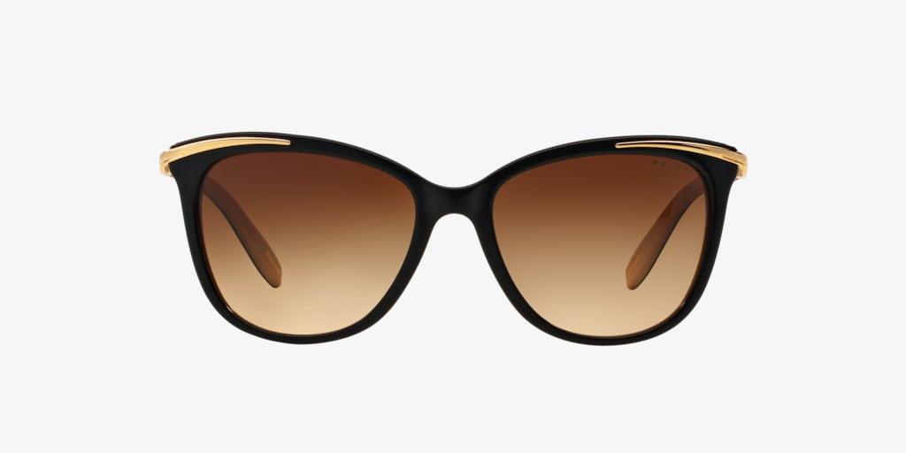 Ralph RA5203 54 Shiny Black On Nude & Gold Sunglasses
