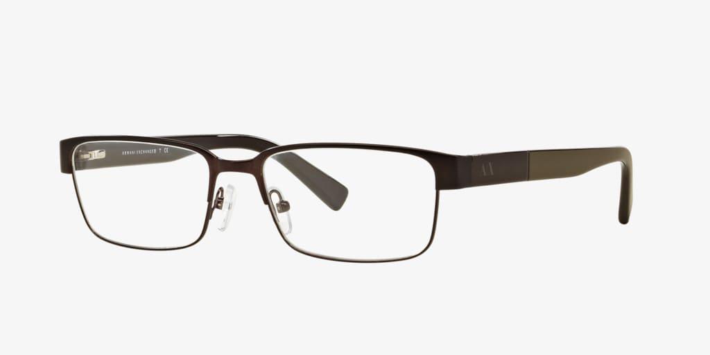 Armani Exchange AX1017 Matte Brown Eyeglasses