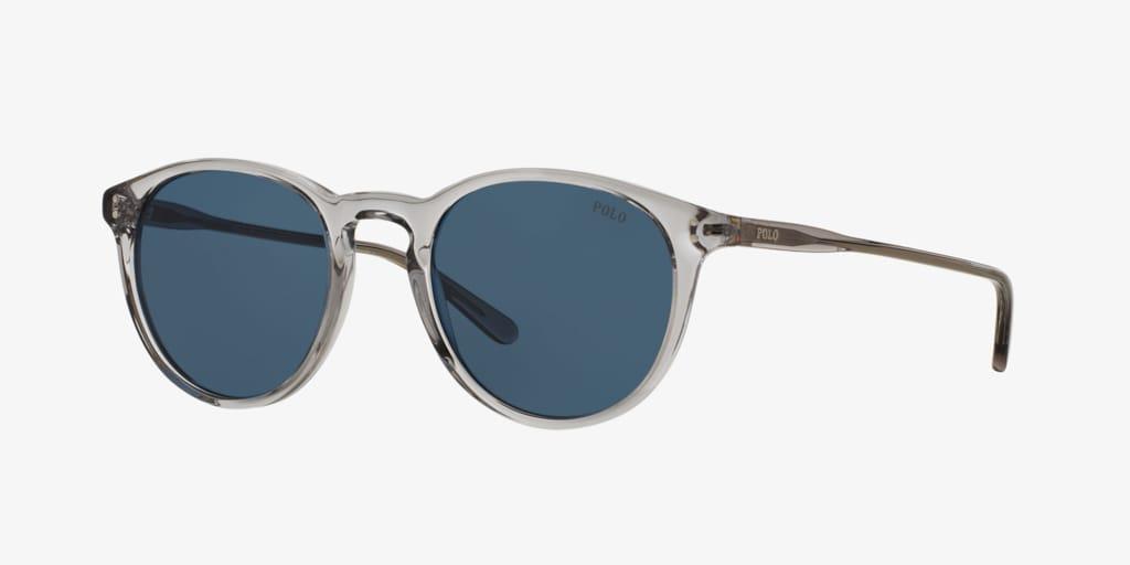 Polo Ralph Lauren PH4110 50 Shiny Semi-Transparent Grey Sunglasses