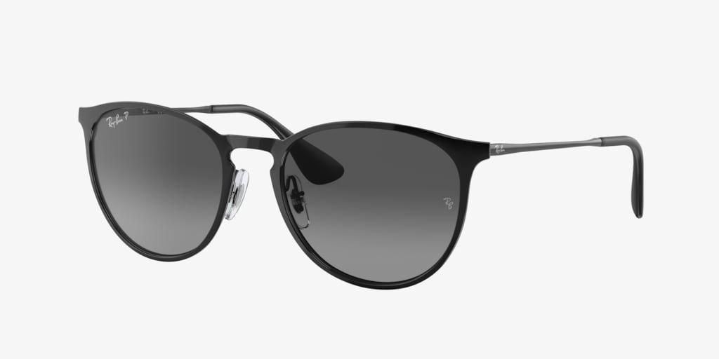 Ray-Ban RB3539 54 ERIKA METAL Black Sunglasses