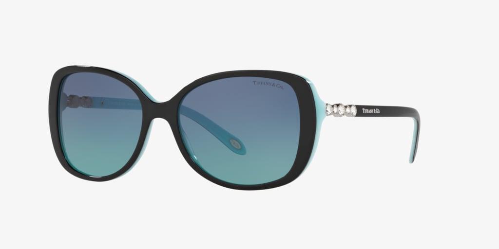 Tiffany TF4121B 55 Black on Tiffany Blue Sunglasses
