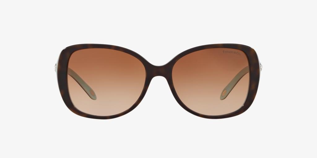 Tiffany TF4121B 55 Havana on Tiffany Blue Sunglasses