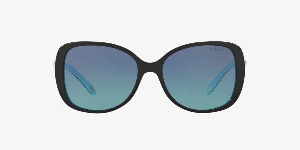 Tiffany TF4121BF 55 Black On Tiffany Blue Sunglasses