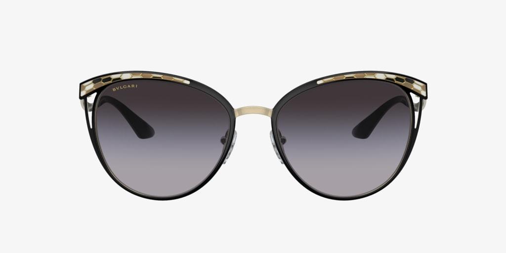 Bulgari BV6083 56 Black/Pale Gold Sunglasses
