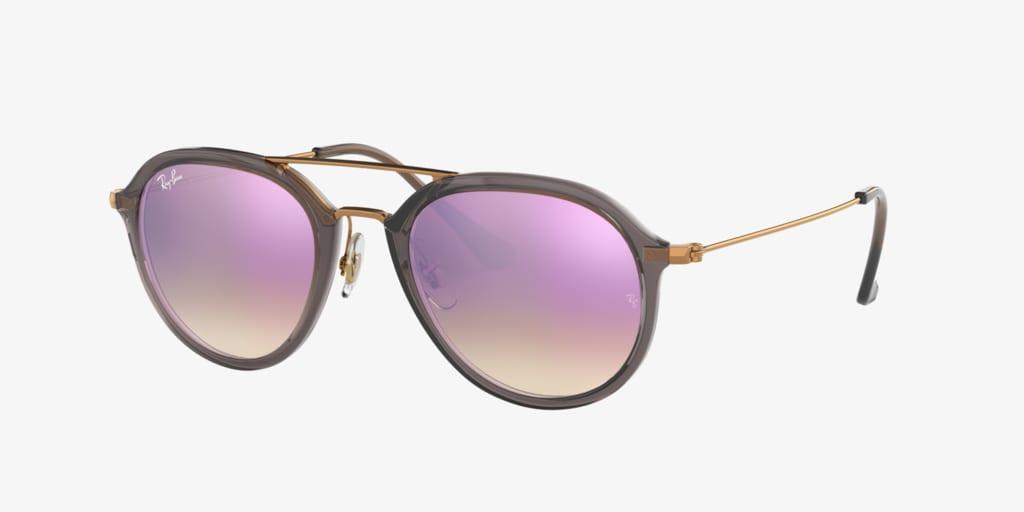Ray-Ban RB4253 53 Transparent Grey Sunglasses