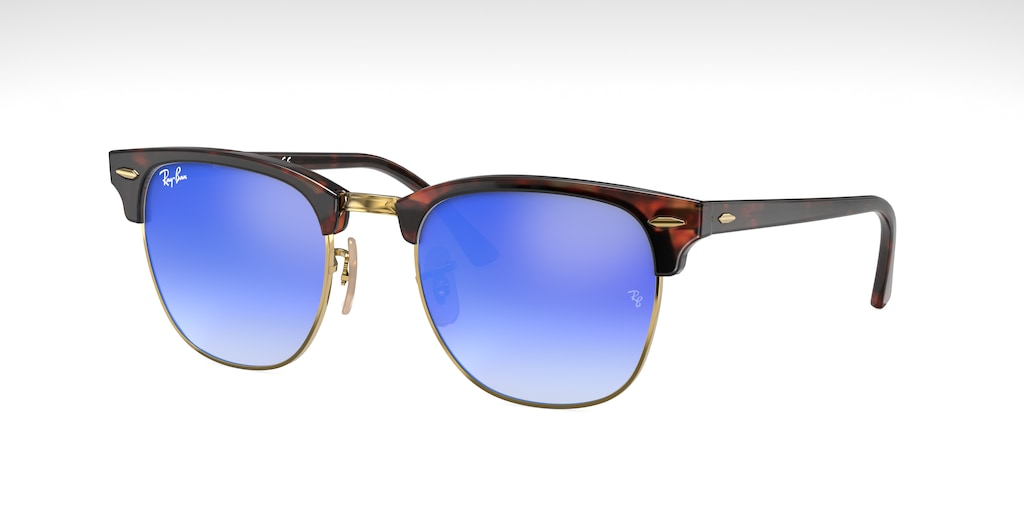Ray-Ban RB3016 49 CLUBMASTER Red Havana Sunglasses