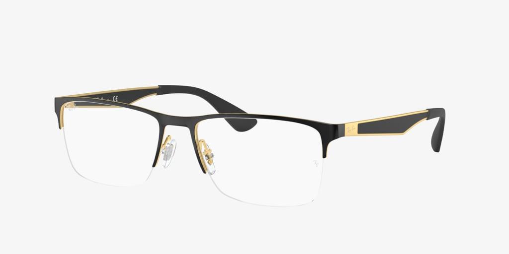 Ray-Ban RX6335 Black on Gold Eyeglasses