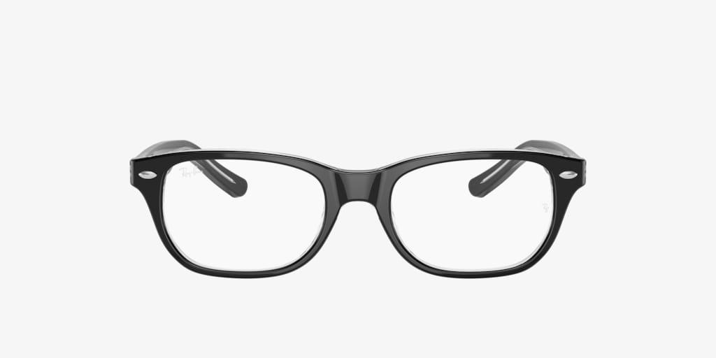 Ray-Ban Jr RY1555 Black on Transparent Eyeglasses
