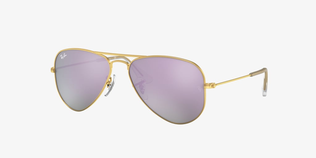 Ray-Ban Jr RJ9506S 50 JUNIOR AVIATOR Matte Gold Sunglasses