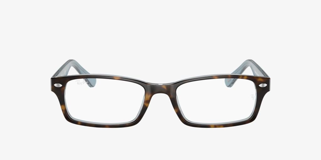 Ray-Ban RX5206 Havana on Transparent Azure Eyeglasses