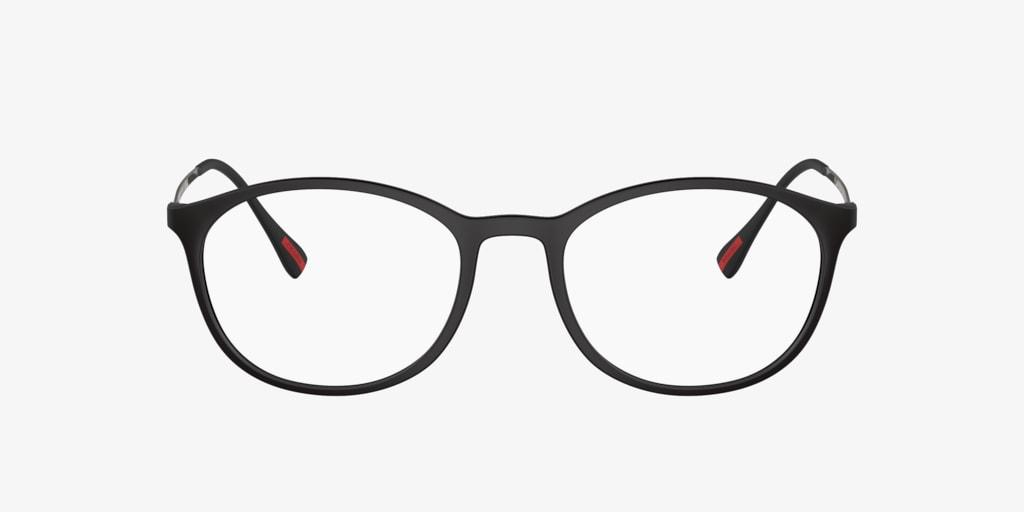 Prada Linea Rossa PS 04HV Black Rubber Eyeglasses