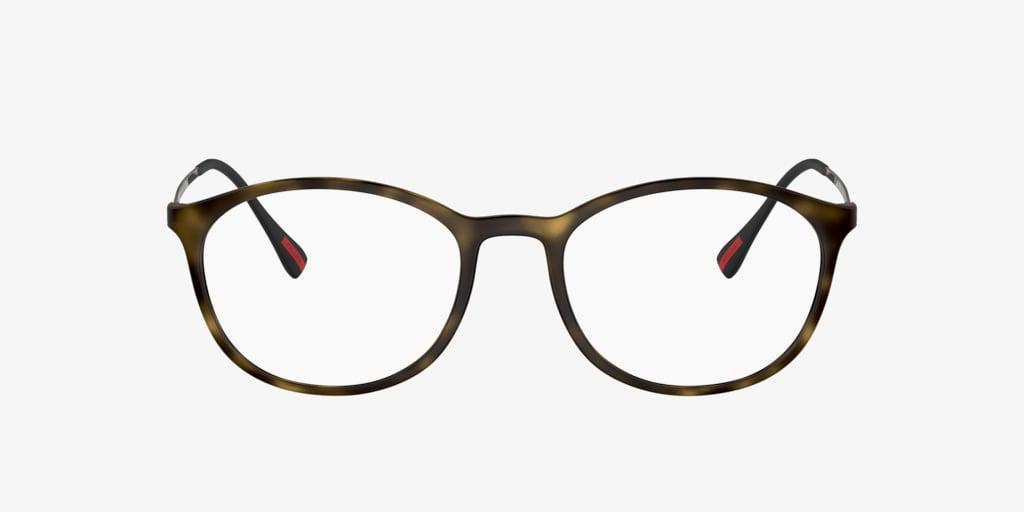 Prada Linea Rossa PS 04HV Havana Rubber Eyeglasses