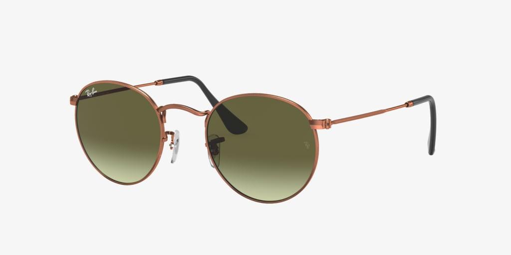 Ray-Ban RB3447 50 ROUND METAL Bronze Sunglasses