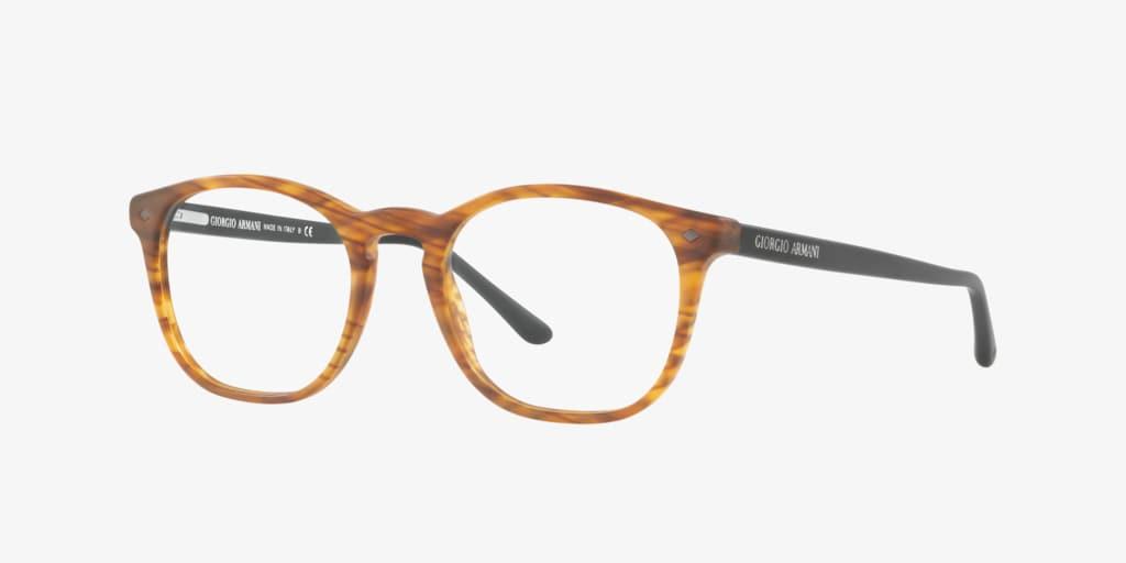 Giorgio Armani AR7074 Matte Striped Light Brown Eyeglasses