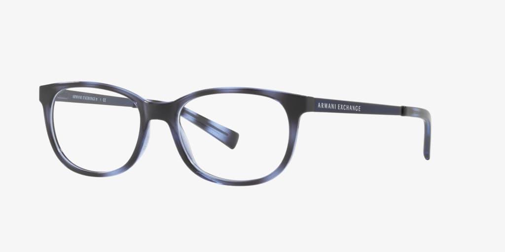 Armani Exchange AX3005 Shiny Blue Havana Eyeglasses