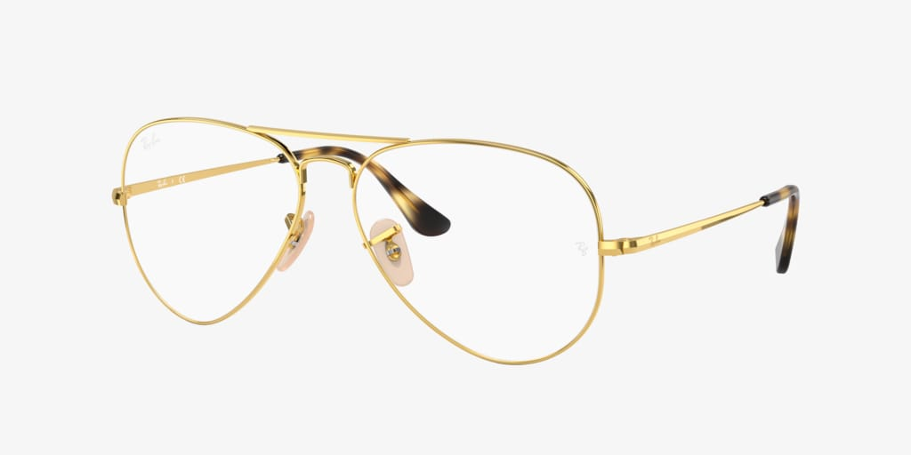 Ray-Ban RX6489 AVIATOR Gold Eyeglasses