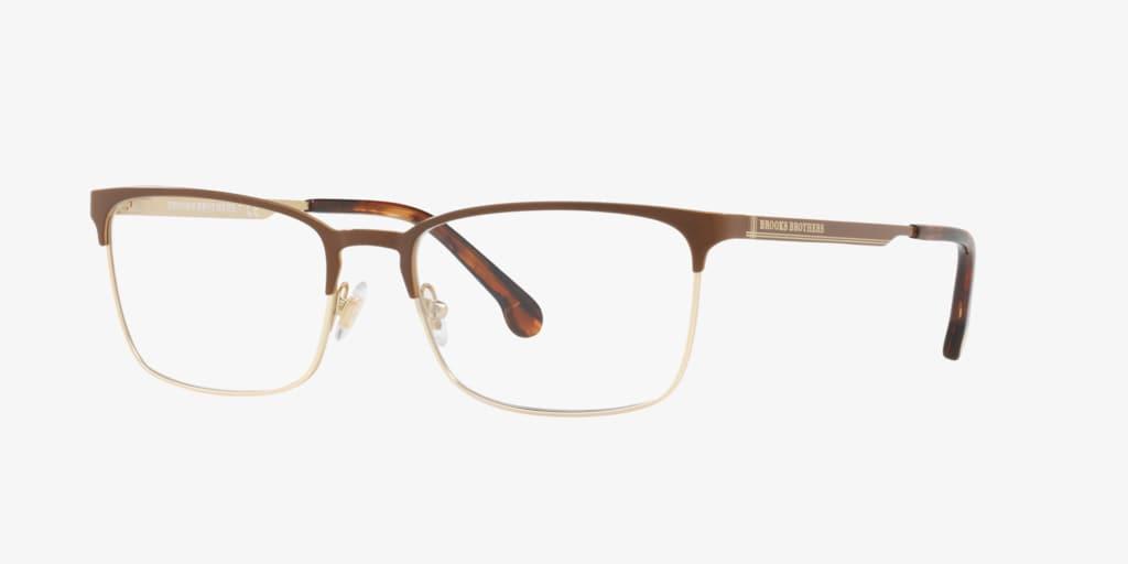 Brooks Brothers BB1054 Brown/Gold Eyeglasses