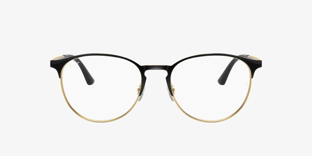Ray-Ban RX6375 Black on Gold Eyeglasses