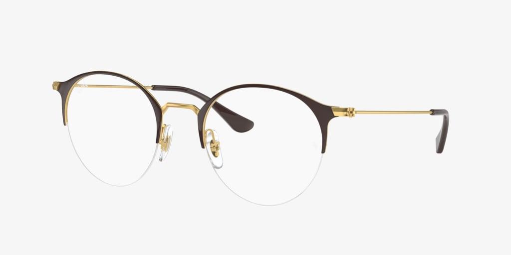 Ray-Ban RX3578V Brown On Gold Eyeglasses
