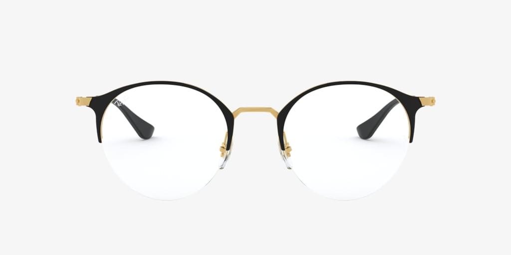 Ray-Ban RX3578V Matte Black On Gold Eyeglasses
