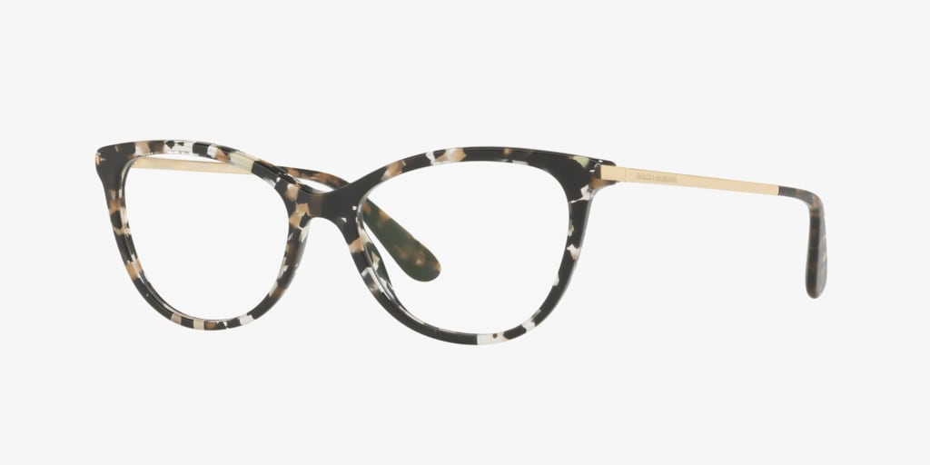 Dolce&Gabbana DG3258 Cube Black/Gold Eyeglasses