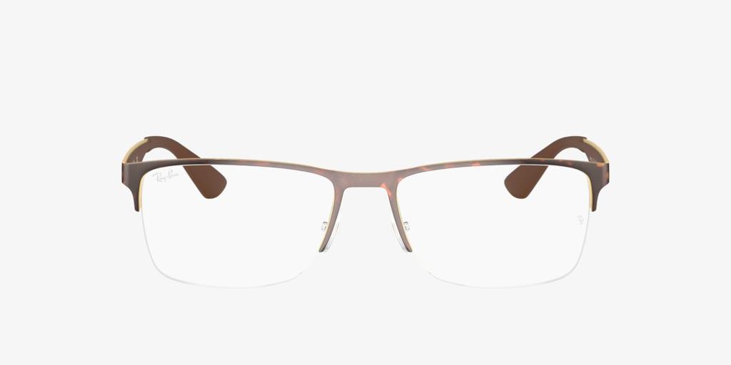 Ray-Ban RX6335 Havana on Gold Eyeglasses