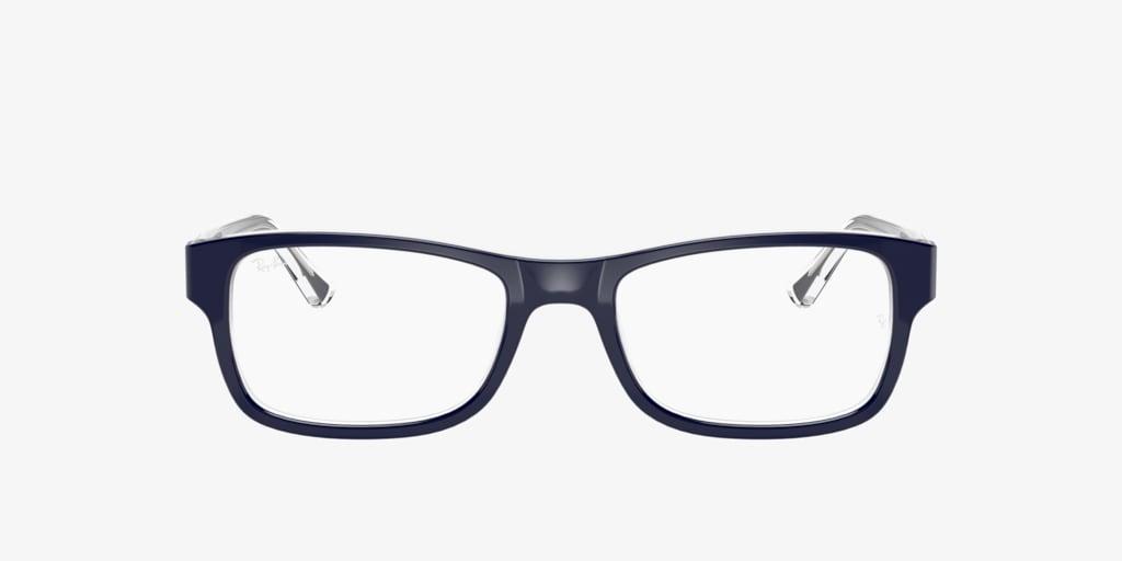 Ray-Ban RX5268 Blue on Transparent Eyeglasses
