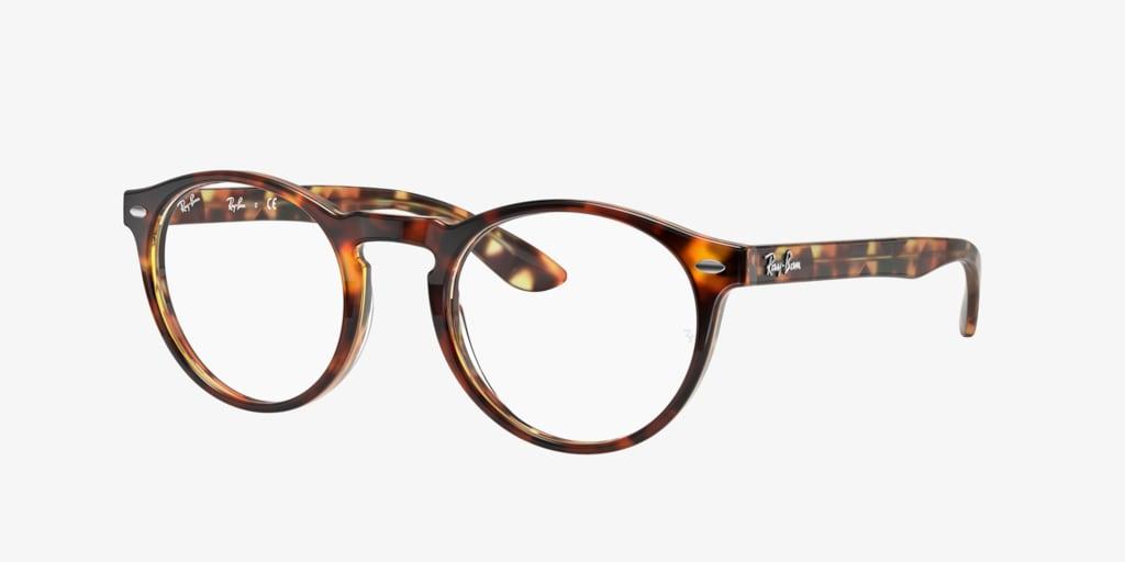 Ray-Ban RX5283 Havana Brown On Yellow Eyeglasses
